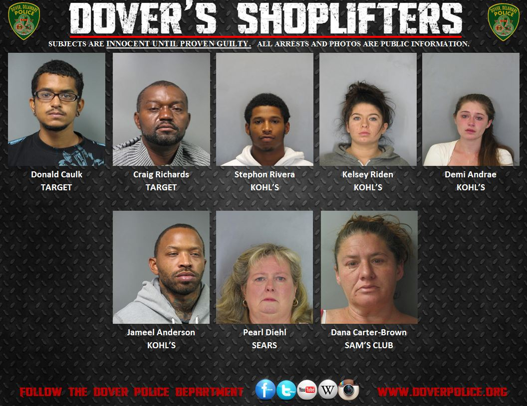 Weekly Shoplifting Arrests 10/9/14-10/16/14 | City of Dover